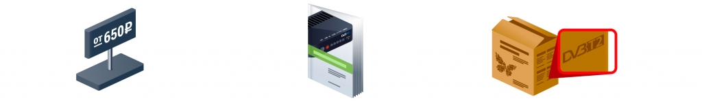 цифровые приставки DVB-T2, эфирные антенны